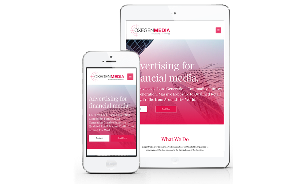 Oxegen Media Mobile Responsive Website